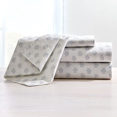 200-TC Percale Leaf Sheet Set , PEARL BLUE
