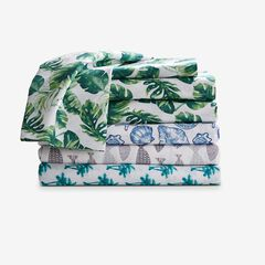Coastal Printed Microfiber Sheet Set, PALM TREES
