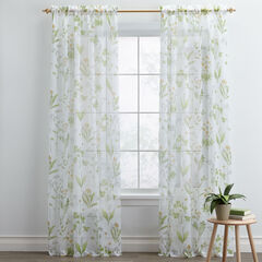 BH Studio Printed Voile Rod-Pocket Panel, MEADOW