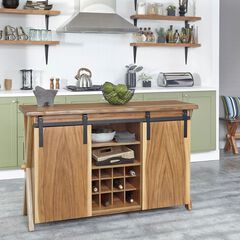 Forest Retreat Kitchen Island by Home Styles, WOOD