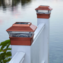 Solar Fence Post Light, COPPER