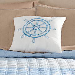 Coastal Sq. Pillow, BLUE