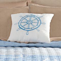 Coastal Sq. Pillow, BLUE