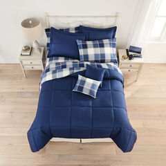 BH Studio 9-Pc. Bed Tite™ Bed-In-A-Bag Set, BLUE PLAID