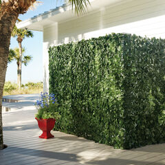 High Faux Greenery Privacy Screen, GREEN