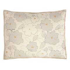 Embroidered Floral Sham,