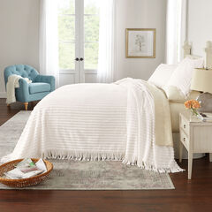 Chenille Bedspread, EGGSHELL