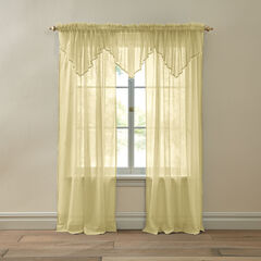 BH Studio Crushed Voile Rod-Pocket Panel, MAIZE