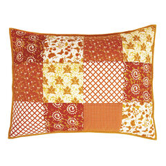 Suma Patchwork Sham, ORANGE GOLD