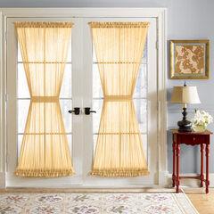 BH Studio Sheer Voile Door Panel With Tiebacks, DAFFODIL