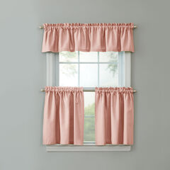 BH Studio Cotton Canvas Tier Set with Valance, BLUSH