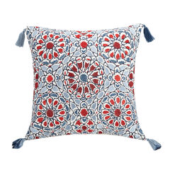 "Jessica Simpson Verbena 16"" Sq. Decorative Pillow, BLUE"