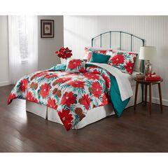 Poinsettia Holiday 5-Pc. Comforter Set, POINSETTIA