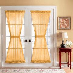 BH Studio Sheer Voile Door Panel With Tiebacks, GOLD