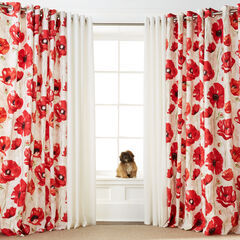 BH Studio Canvas Printed Grommet Panel, RED POPPY