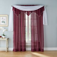 BH Studio Crushed Voile Ascot Valance, WINE