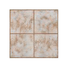 "Portfolio 12"" x 12"" 2.0mm Self Adhesive Vinyl Floor Tile - 9 Tiles/9 sq. ft., RUSTIC CLAY"