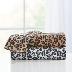 Satin Leopard Sheet Set,