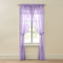 BH Studio Crushed Voile 5-Pc. One-Rod Set, LILAC