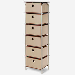 Eve 6-Drawer Tall Soft Storage, NATURAL