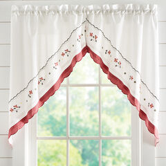 Gingham Swag Pair, RED