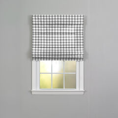 Buffalo Check Roman Shade, GREY