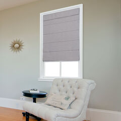 Cordless Quinn Large Fold Roman Shade, GRAY