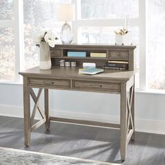 Mountain Lodge Student Desk with Hutch by Home Styles, MULTI GRAY