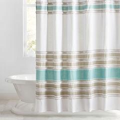 Merlin Cotton Tufted Shower Curtain,