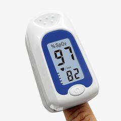 Fingertip Oxygen Meter, WHITE BLUE