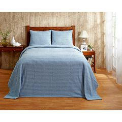 Natick Collection Tufted Chenille Bedspread by Better Trends, BLUE