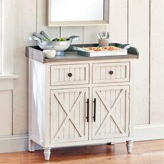 2-Door Cabinet, RUSTIC WHITE