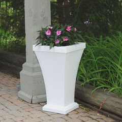 Mayne® Bordeaux Tall Planter, WHITE