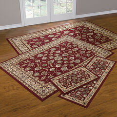 Floral Vine 4-Pc. Rug Set with Runner, RED