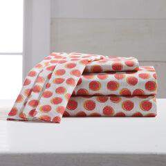 220-TC Percale Citrus Fruit Sheet Set, GRAPEFRUIT