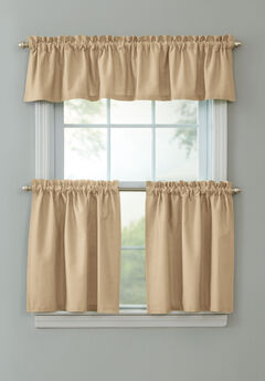 BH Studio Cotton Canvas Tier Set with Valance, SAND