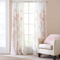 Funky Floral Panel Set, SOFT CORAL MULTI