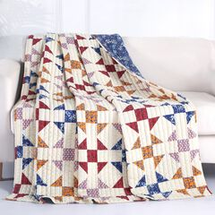 Barefoot Bungalow Savannah Quilted Throw Blanket, IVORY