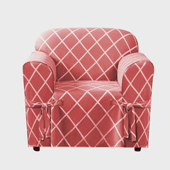 Mix & Match Lattice Design Cotton Chair Slipcover ,