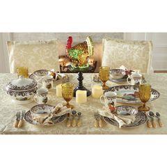 16-Pc. Turkey Dinnerware Set, MULTI