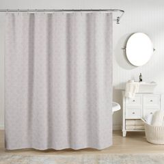 Bogart European Matelassé Shower Curtain, GREY