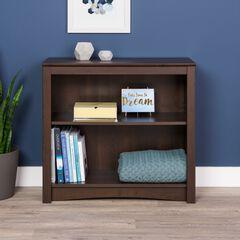 2-Shelf Bookcase, ESPRESSO