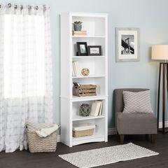 Tall Bookcase, White, WHITE
