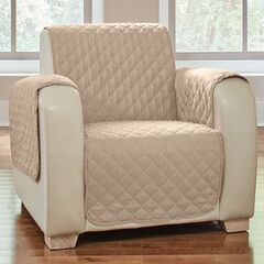 BH Studio Water-Repellent Microfiber Chair Protector, NATURAL