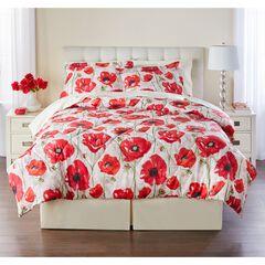 Poppy 3-Pc. Comforter Set, RED POPPY