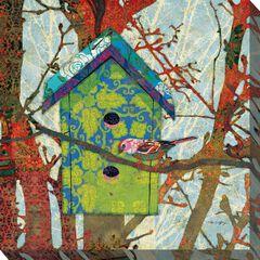 Birdie's Home Outdoor Wall Art, MULTI