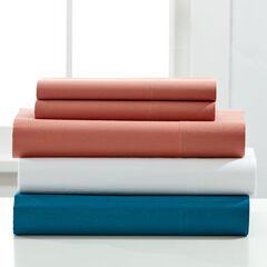 144-TC. Cotton Sheet Set, ROSE