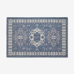 "Carmel Indoor/Outdoor Kilim Rug 4'10"" x 7'6"", NAVY"