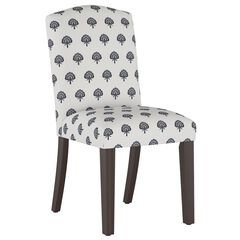 Block Paisley Back Dining Chair, NAVY