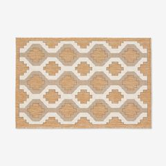 "Carmel Indoor/Outdoor Geo Rug 3'3"" x 4'11"", SAND"